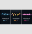 set of voice recognition system and personal vector image