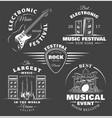 set vintage musical labels vector image vector image