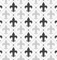 Shades of gray light and dark Fleur-de-lis vector image vector image