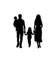 silhouettes family father mother daughter and vector image vector image