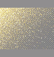 sparkling golden glitter with bokeh lights on vector image