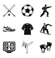 sport protection icons set simple style vector image vector image