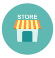 store icon flat isolated on white vector image