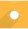 sun web flat icon vector image vector image