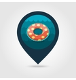 Swimming circle on water pin map icon Vacation vector image vector image