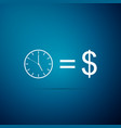 time is money sign isolated money is time vector image vector image
