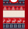 ugly sweater merry christmas happy new year vector image vector image