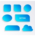 Various blue buttons with shadows vector image