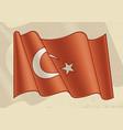 vintage flag turkey vector image vector image