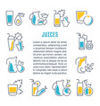 website banner and landing page juices vector image