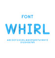 whirl font alphabet vector image vector image