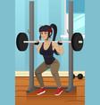 woman lifting weight vector image vector image