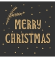 Xmas Christmas greeting card with lettering vector image vector image