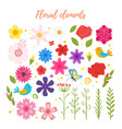 floral elements for your design vector image