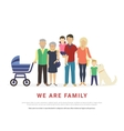 Concept of big family portrait vector image