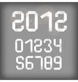 2012 and other numbers vector image