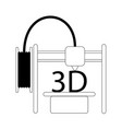 3d printing icon modern vector image