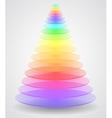 abstract creative pyramid vector image