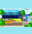 airport transfer taxi and transport vector image vector image