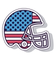 american football helmet sport isolated icon vector image vector image