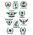 American football retro symbols for sport design vector image
