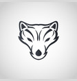 arctic fox logo icon design vector image vector image