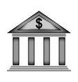 bank sign icon vector image vector image