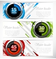 Banners with timers vector image vector image