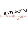 bathroom mirrors text background word cloud vector image vector image