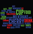 best recipes merry cherry milkshake text vector image vector image