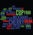 Best recipes merry cherry milkshake text