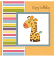 birthday card with giraffe toy vector image