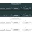 bishkek single line skyline banner vector image vector image