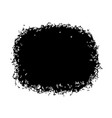 black stain isolated on white background vector image