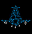 bright mesh wire frame cargo plane with flash vector image vector image