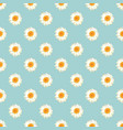 chamomile seamless pattern daisies on blue vector image vector image
