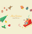 christmas composition with decorations and gift vector image