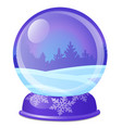 christmas souvenir in form glass ball with vector image