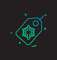 christmas tag icon design vector image vector image