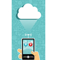 Cloud computing communication vector image vector image