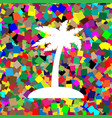 coconut palm tree sign white icon on vector image