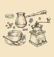 coffee vintage drink sketch vector image vector image
