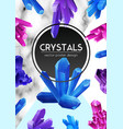 crystals realistic frame poster vector image vector image