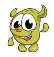cute monster waving hand vector image