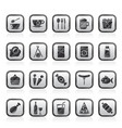 different kind of food and drinks icons 1 vector image vector image