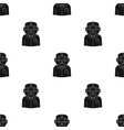 doctor icon in black style isolated on white vector image vector image