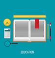 education flat design concept for design vector image vector image