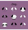 face dog cartoon vector image vector image