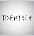 fingerprint with identity vector image