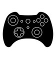 game controller silhouette outlines gamepad x box vector image